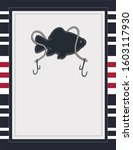 fishing nautical card template... | Shutterstock . vector #1603117930