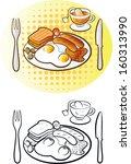 vector illustration of  english ... | Shutterstock .eps vector #160313990