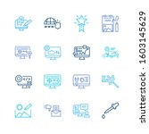 web icon set and website...