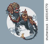 barong dance bali vector...   Shutterstock .eps vector #1603145770
