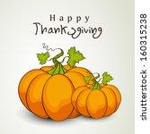 happy thanksgiving day... | Shutterstock .eps vector #160315238