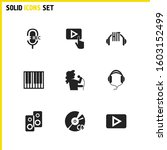 musical icons set with singer...