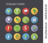 flat icons for ecology  nature...