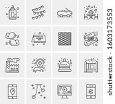 16 universal business icons... | Shutterstock .eps vector #1603173553