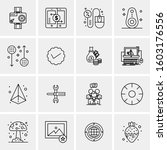 16 universal business icons... | Shutterstock .eps vector #1603176556