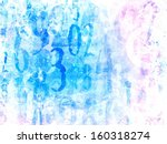 angelic bright light magical numbers background - stock photo