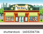 an illustration of a pet store  | Shutterstock .eps vector #1603206736