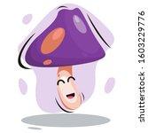 adorable cute mushroom mascot... | Shutterstock .eps vector #1603229776