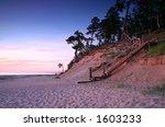 pink shore at twilight   Shutterstock . vector #1603233