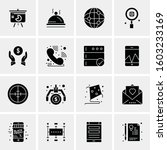 16 universal business icons... | Shutterstock .eps vector #1603233169