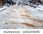 Walkway Sprinkled With Salt...