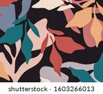 modern retro abstract floral... | Shutterstock . vector #1603266013