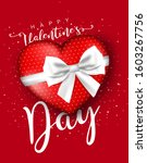 valentine's day greeting card... | Shutterstock .eps vector #1603267756