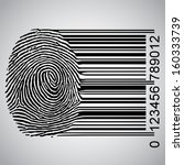 fingerprint becoming barcode... | Shutterstock .eps vector #160333739