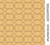 linear hexagonal seamless... | Shutterstock .eps vector #1603349506