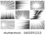 comic book radial and linear... | Shutterstock . vector #1603351213