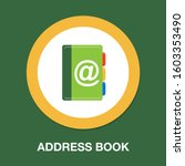 address book icon contact... | Shutterstock .eps vector #1603353490