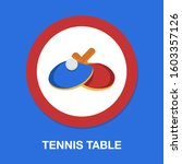 Tennis Table  Ping Pong Logo...