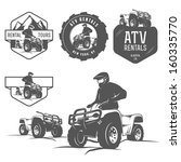 set of atv labels  badges and...