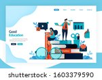 landing page design of good... | Shutterstock .eps vector #1603379590