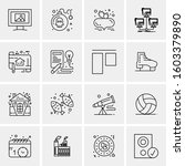 16 universal business icons... | Shutterstock .eps vector #1603379890