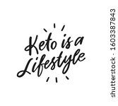 healthy keto lifestyle. keto... | Shutterstock .eps vector #1603387843