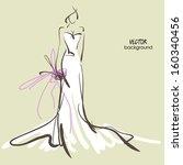 art sketch  10 of beautiful... | Shutterstock .eps vector #160340456