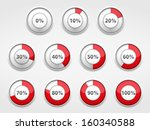red progress indicators set ... | Shutterstock .eps vector #160340588