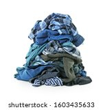 heap of different clothes on... | Shutterstock . vector #1603435633