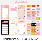 collection of weekly or daily... | Shutterstock .eps vector #1603447069