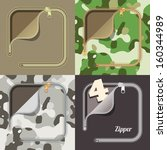 simle angle zipper color... | Shutterstock .eps vector #160344989