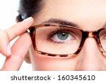 Eyeglasses. Woman Wearing...