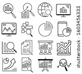 data analysis line icons set.... | Shutterstock .eps vector #1603456333