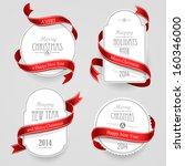 christmas emblems   Shutterstock .eps vector #160346000