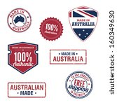 australian stamps and badges | Shutterstock .eps vector #160349630