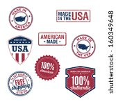 usa stamps and badges | Shutterstock .eps vector #160349648