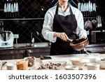 Cropped View Of Chocolatier In...