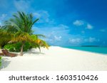 Beach And Tropical Sea . Natur...