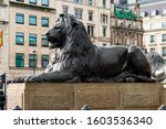 Bronze Sculpture Of A Lion In...