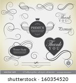 calligraphic design elements... | Shutterstock .eps vector #160354520