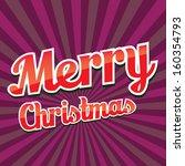 vector vintage color christmas... | Shutterstock .eps vector #160354793