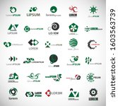 abstract element icon set.... | Shutterstock .eps vector #1603563739