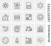16 universal business icons... | Shutterstock .eps vector #1603575553