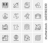 16 universal business icons...   Shutterstock .eps vector #1603582330