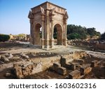 The Roman Ruins of Leptis Magna in Libya