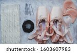 ballerina things. pointe shoes  ...   Shutterstock . vector #1603607983