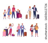 travelers collection. vector... | Shutterstock .eps vector #1603612726