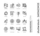 simple set of engineering... | Shutterstock .eps vector #1603623433