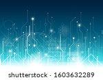 vector of an abstract digital... | Shutterstock .eps vector #1603632289
