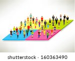 a large group of social... | Shutterstock .eps vector #160363490